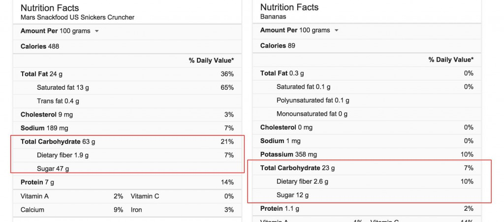 snickers-banana-snack-comparison-diet