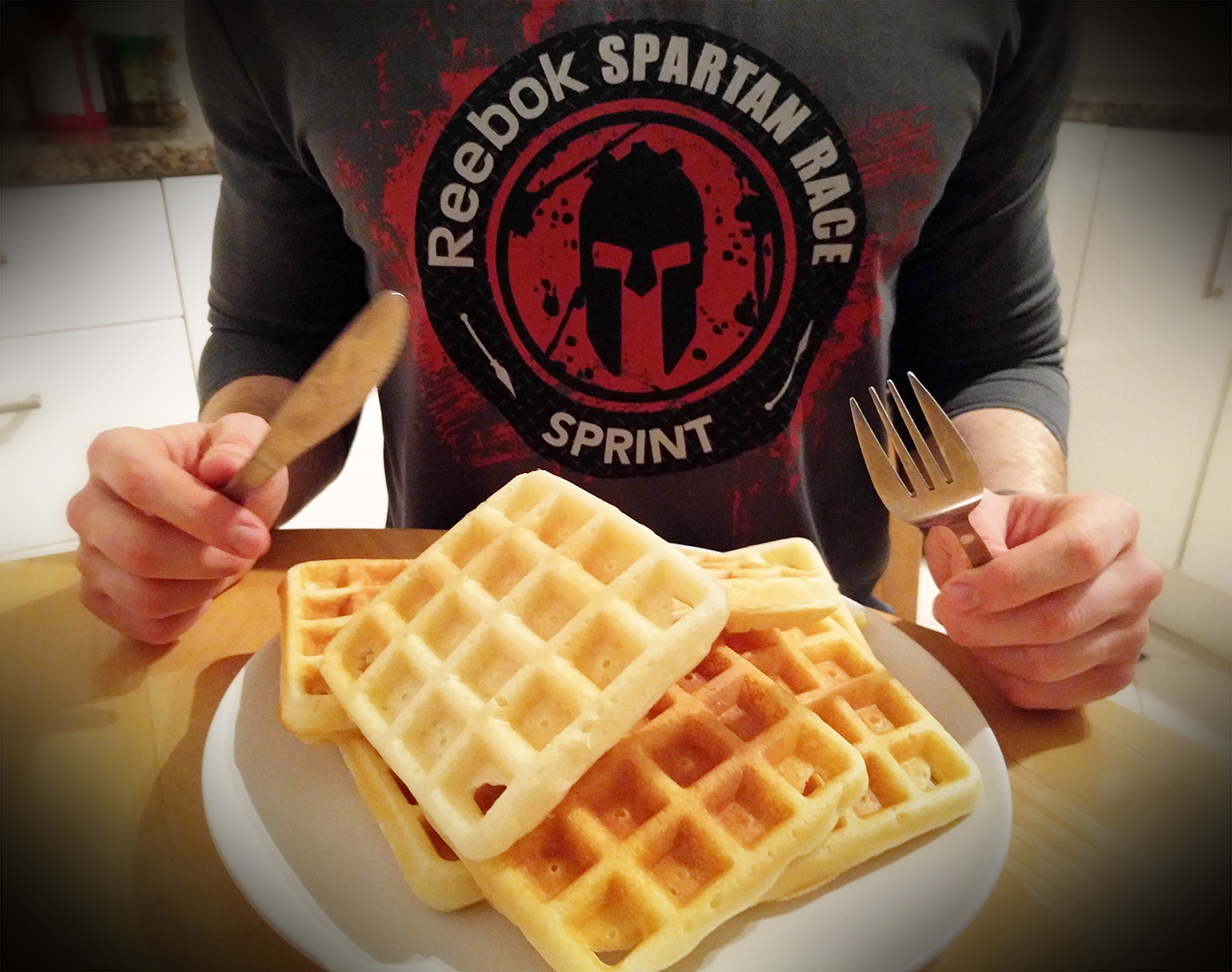 Forget Poptarts. Time For The Pre-Race Macho Waffles