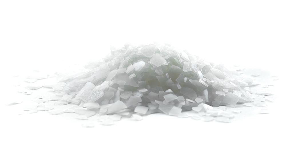 Magnesium chloride isolated on white