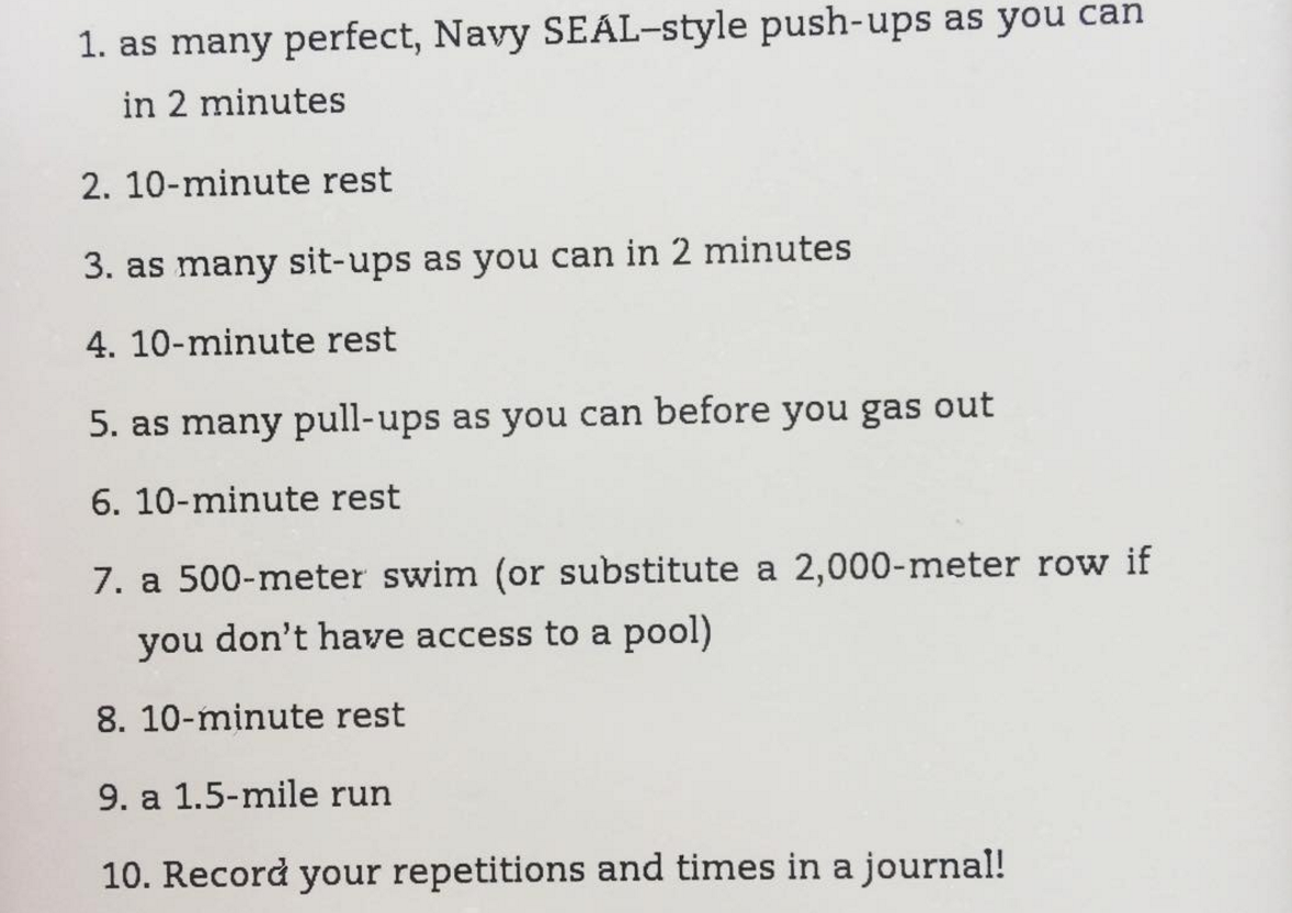 Week 27: SEALFIT Screening Test